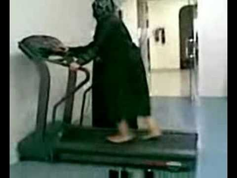 Saudi woman owned by the treadmill .