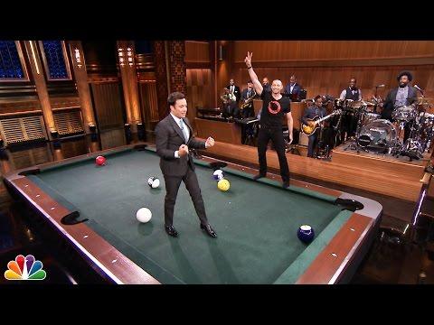 Pool Bowling with Hugh Jackman