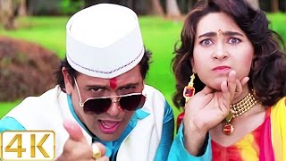 A Aa Ee O O O - 4K Ultra HD Video Song | Karisma Kapoor & Govinda | Raja Babu