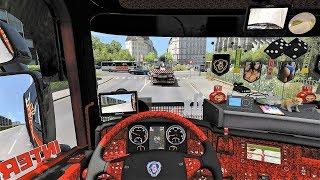ETS2 (v1.31) - Scania RJL Tuning V8 Sound + Skin + Interior [Paris Rebuild]