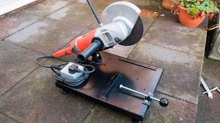 Make your own large angle grinder stand and metal chop saw