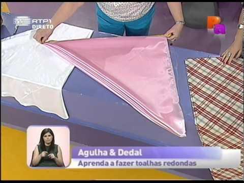 Dicas de costura Aprenda a fazer toalhas redondas Praça da Alegria