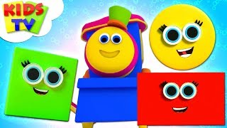 Build With Shapes   Learning Videos - Bob The Train   Nursery Rhymes by Kids TV