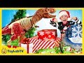 Download Video Download Christmas for the Dinosaurs! Opening Dinosaur Presents from Santa & Jurassic World Surprise Toys 3GP MP4 FLV