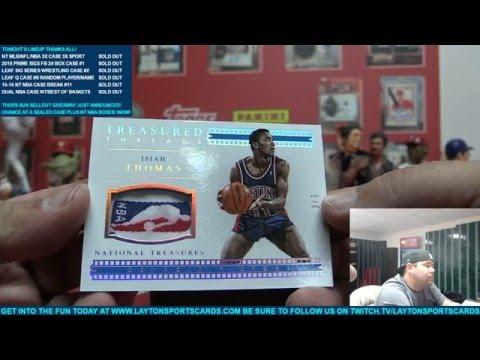 2015-16 Panini National Treasures Basketball 2 Box Break for James B