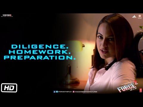 Diligence. Homework. Preparation   Force 2   Dialogue Promo   John Abraham   Sonakshi Sinha
