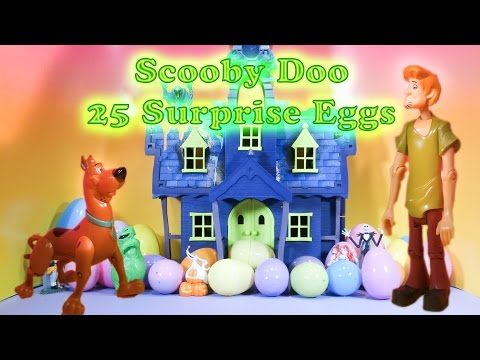 SCOOBY DOO The Scooby Doo Fujnny Spooky Surprise Eggs a Scooby Doo Surprise Egg Toys Video