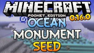 OCEAN MONUMENT SEED! - MCPE 0.16.0 GUARDIAN TEMPLE SEED - Minecraft PE (Pocket Edition)