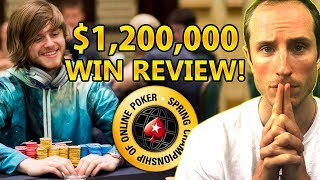 $1.2 Million SCOOP Main Event WIN Review! [Part 1]
