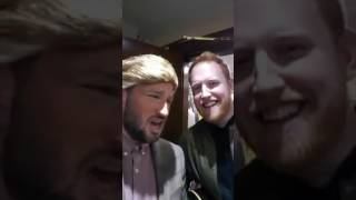 Trump and Gavin James having a nice oul backstage chat.