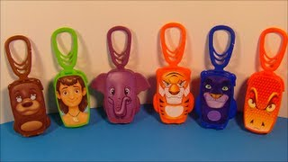 2013 DISNEY'S JUNGLE BOOK SET OF 6 BURGER KING MOVIE TOY'S VIDEO REVIEW