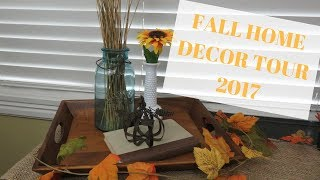FALL HOME DECOR TOUR 2017 | THRIFTED, RUSTIC & NATURAL | HOW TO DECORATE WITH THRIFT STORE FINDS