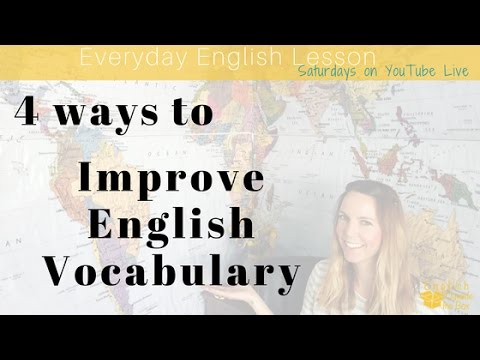 Everyday English: How to Improve Vocabulary