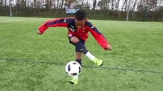 What a football talent he is! 12 year-old Arsenal wonderkid Omari Hutchinson!