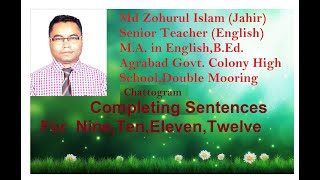 Completing sentence in English grammar bangla tutorial