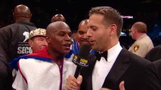 Mayweather vs. Marquez: Mayweather Post Fight Interview (HBO Boxing)