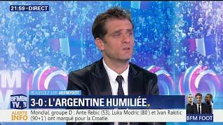 Jérôme Rothen pas surpris par la défaite argentine contre la Croatie