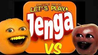 Annoying Orange - AO vs Midget Apple Plays: JENGA!