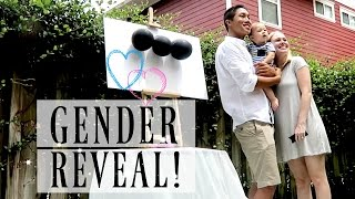 BEST GENDER REVEAL! Surprise Paint Balloon Pop!