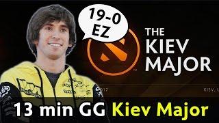 NaVi 13 min GG — Kiev Major 19-0 game