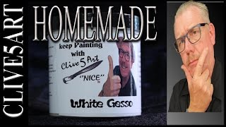 Homemade Gesso, Acrylic painting for beginners,