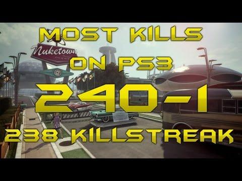 240 Kills - 1 Death - 3 WORLD RECORDS: Most Kills PS3, Highest Killstreak/KDR