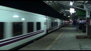 Superb ! Spanish Talgo Train overtakes a Superfast train of India