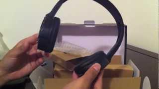 The Sharper Image Wireless Headphones  Unboxing