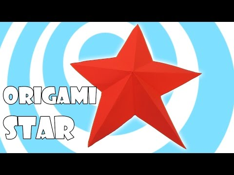 Easy Origami Christmas Star Tutorial