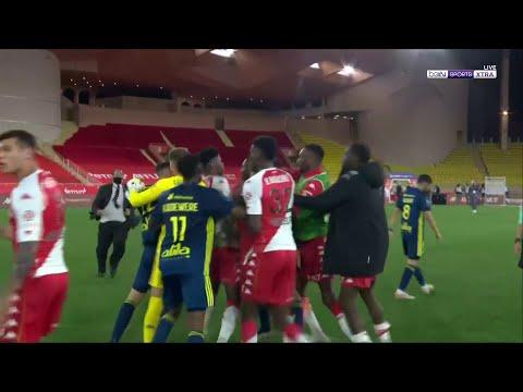 Explosive brawl at the end of Monaco vs Lyon