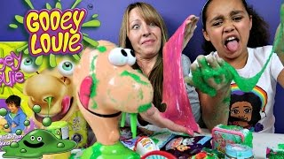 GROSS Gooey Louie Toy Challenge Game - Slime Baff Boogers - Surprise Toys For Kids