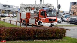 Alarm pożarowy w centrum handlowym - dojazd 304D53 + zawracanie zastępów z JRG 7