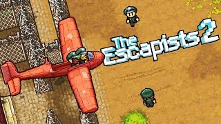 GLIDE TO VICTORY! Prisoners BUILD and LAUNCH a GLIDER! - The Escapists 2 Gameplay