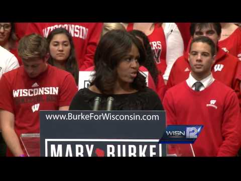 Michelle Obama visits Madison to campaign for Mary Burke