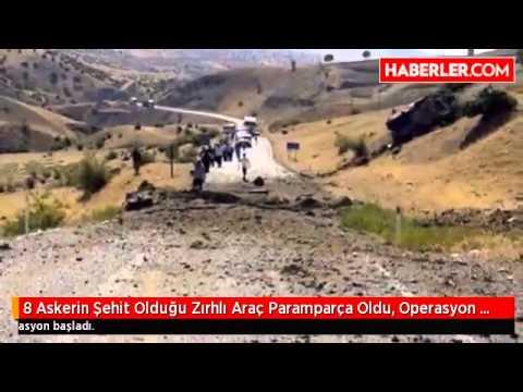 Siirt'e 8 Asker Şehit Oldu - Askeri Zırhlı Araç Paramparça Oldu
