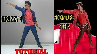 Hrithik Roshan - Krazzy 4 || Signature Steps Tutorial || Nishant Nair