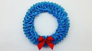 DIY Paper Christmas Wreath   Decoration Ideas for Upcoming Christmas