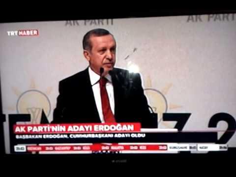 Ak Parti Cumhurbaşkanı Adayı Recep Tayyip Erdoğan 01.07.2014