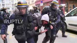 France: Paris strikers bloodied and beaten as reform protests erupt