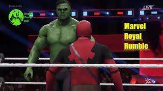 Marvel Studios' Avengers: Infinity War Movie theme Full Royal Rumble WWE Match 2k18 PS4 PC