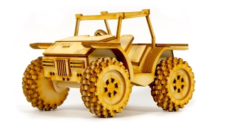CARS FOR KIDS VIDEO: Motorica Constructor Wooden Model Buggy Car