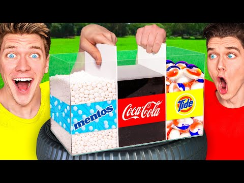 5 Next Level Viral Experiments w Coca Cola Mentos & Crushing Crunchy Soft Things by Car Experiment