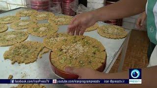 Iran Qom province, Sohan toffee سوهان استان قم ايران