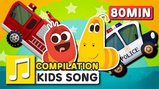 WHEELS ON THE CAR and other songs | 75 min | LARVA KIDS | Nursery Rhyme for kids