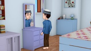 Abdul Bari looking into the mirror DUA