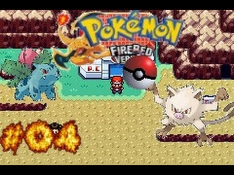 Pokemon Fire Red Part 4-  First Evolution and a Mankey