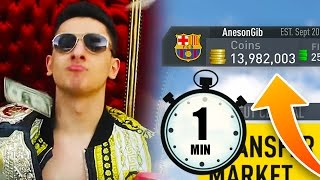 I SPENT 10+MILLION COINS IN 60 SECONDS!!! ( FIFA 17 )