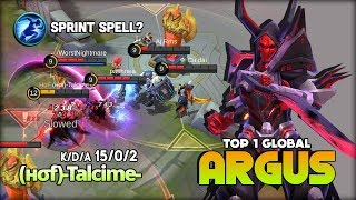 Sprint Spell for Argus without Lifesteal Item? (нσf)-Talcime- Top 1 Global Argus ~ Mobile Legends