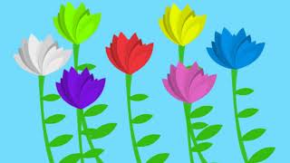 """The Flower Song"" - lullaby for learning colors (children's educational song)"