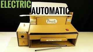 how to make a Electric Pencil sharpener dispenser machine from cardboard for school